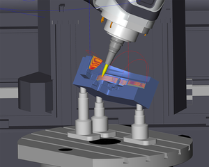 hyperMILL® VIRTUAL Machining Optimizer now detects violations of the axis limitations and optimizes movement sequences accordingly.